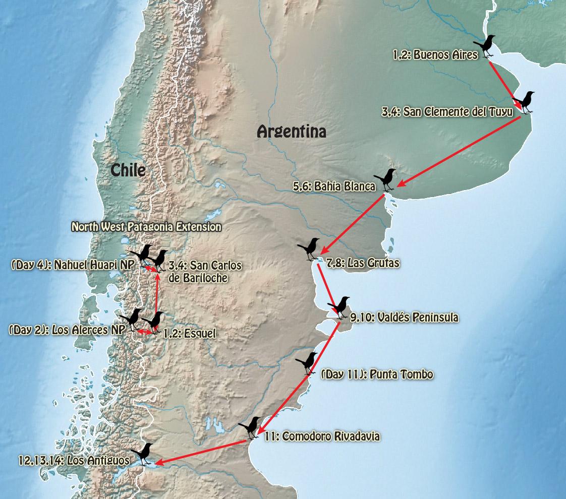 Argentina Northern Patagonia Pampas - Argentina map bahia blanca